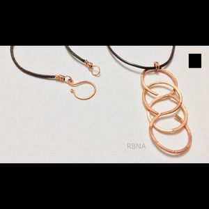 Infinity Copper Necklace Modern Chic Handmade